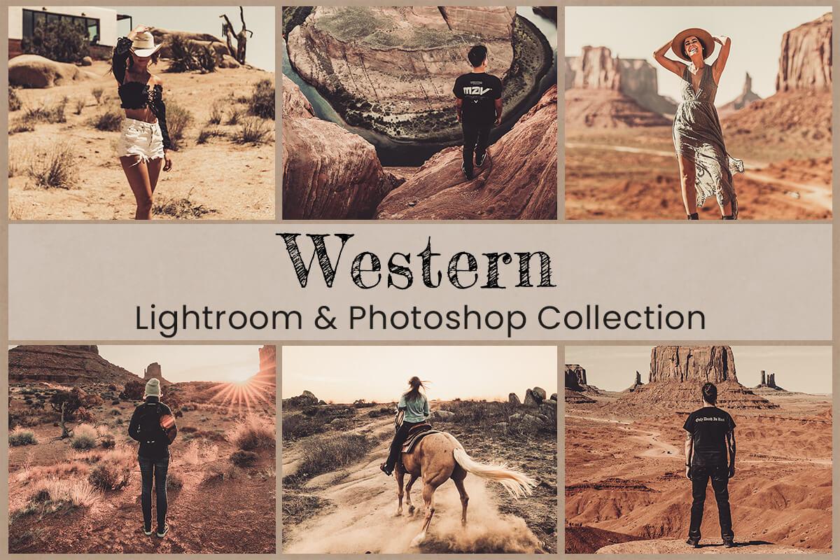 Western Lightroom Mobile Presets Photoshop Filters Instagram Warm Natural Bright Travel Boho VSCO Desert bohemian Vintage Photography LUTs